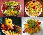 ლამაზად მორთული ხილის ასორტი