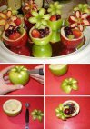 ხილის ლამაზად გაფორმება