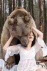 ფოტოსესია დათვთან ერთად