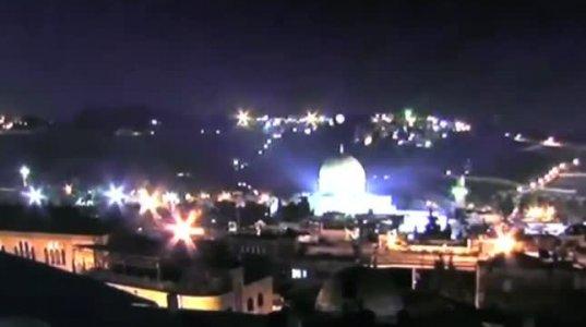 უცნაური მოვლენა იერუსალიმში, მეჩეთის გუმბათზე.