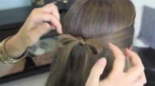 თმაზე ბანტის გაკეთება