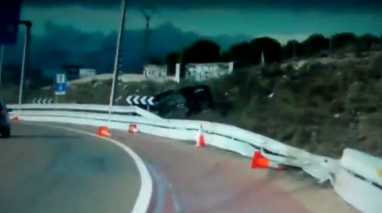 შემთხვევით გადაღებული საშინელი ავარია